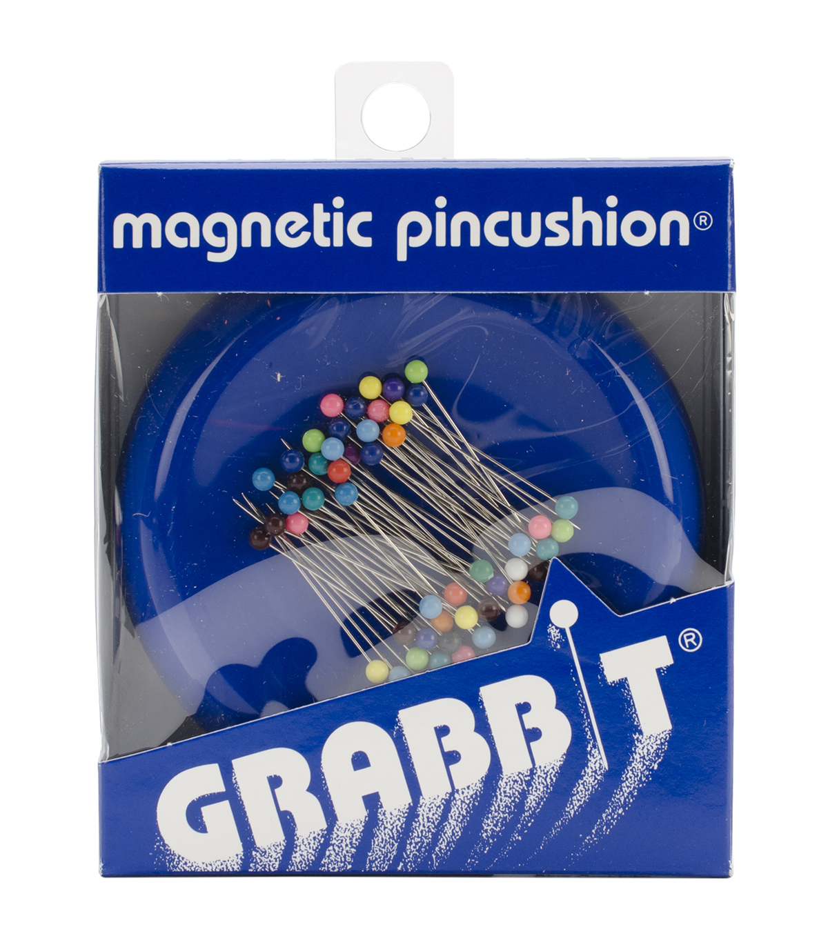 Grabbit Magnetic Pincushions with 50 Pins, Blue