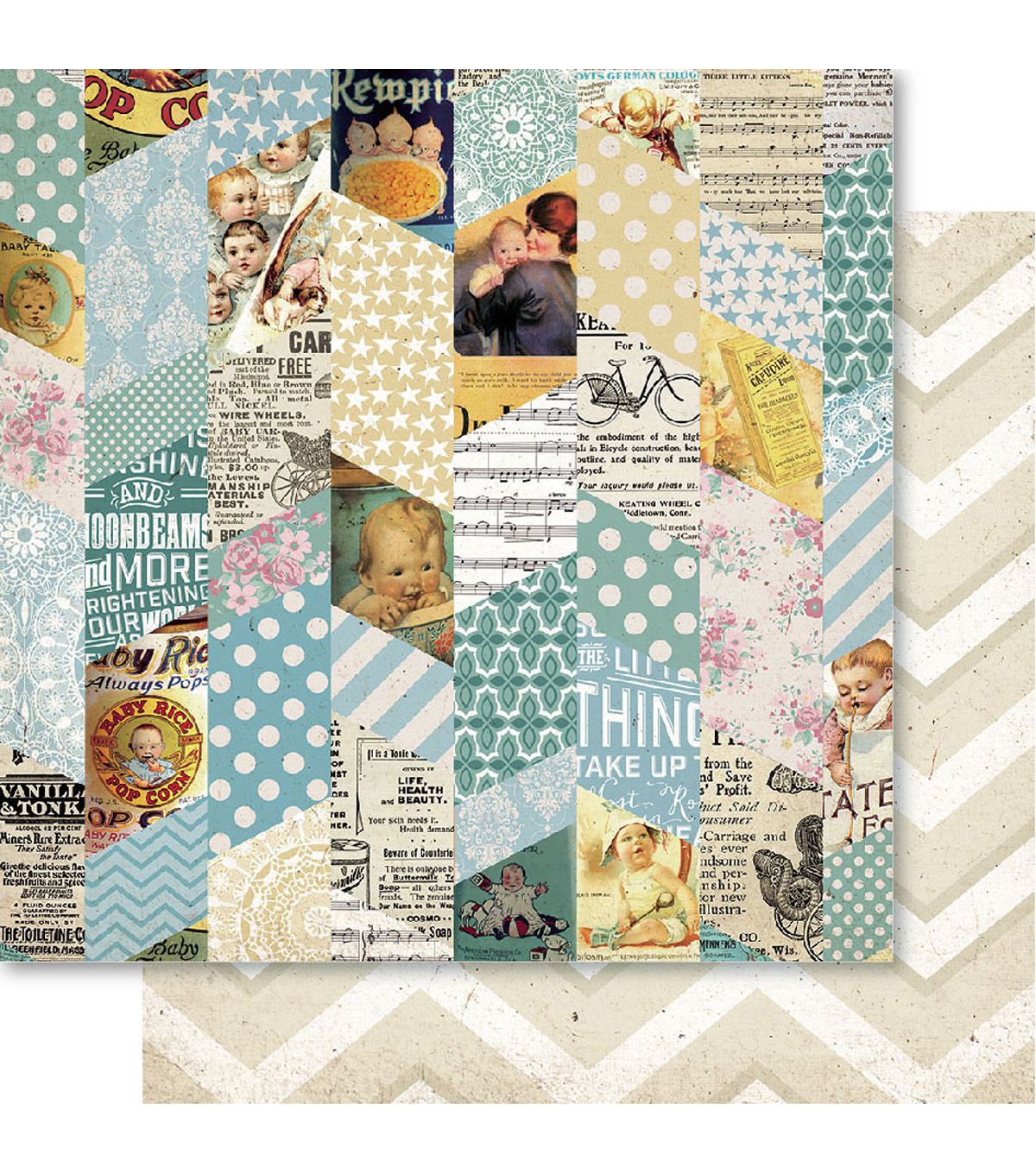 Bella! Baby Boy Double-Sided Cardstock-Montage