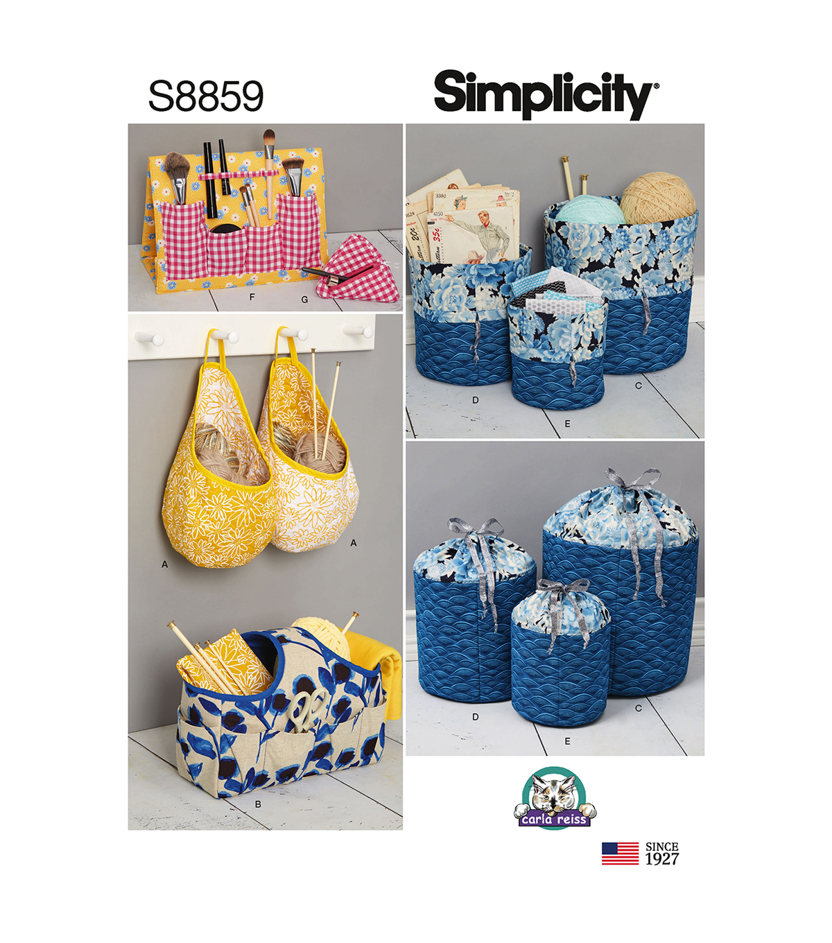 Simplicity Pattern S8859 Organizers