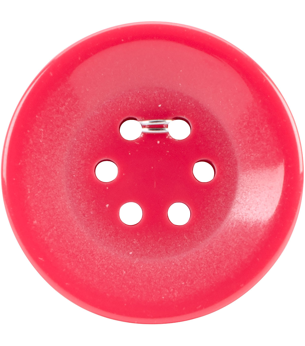 Crafting with Buttons 2 pk Small 6 Hole Buttons-Red