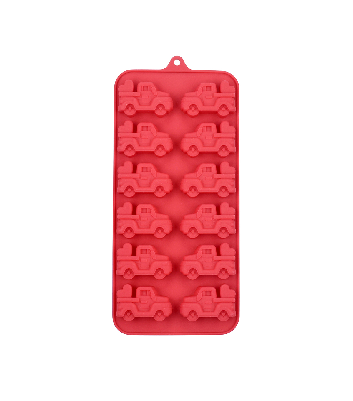Valentine\u0027s Day 8.25\u0027\u0027x4\u0027\u0027 Silicone Candy Mold-Trucks with Heart