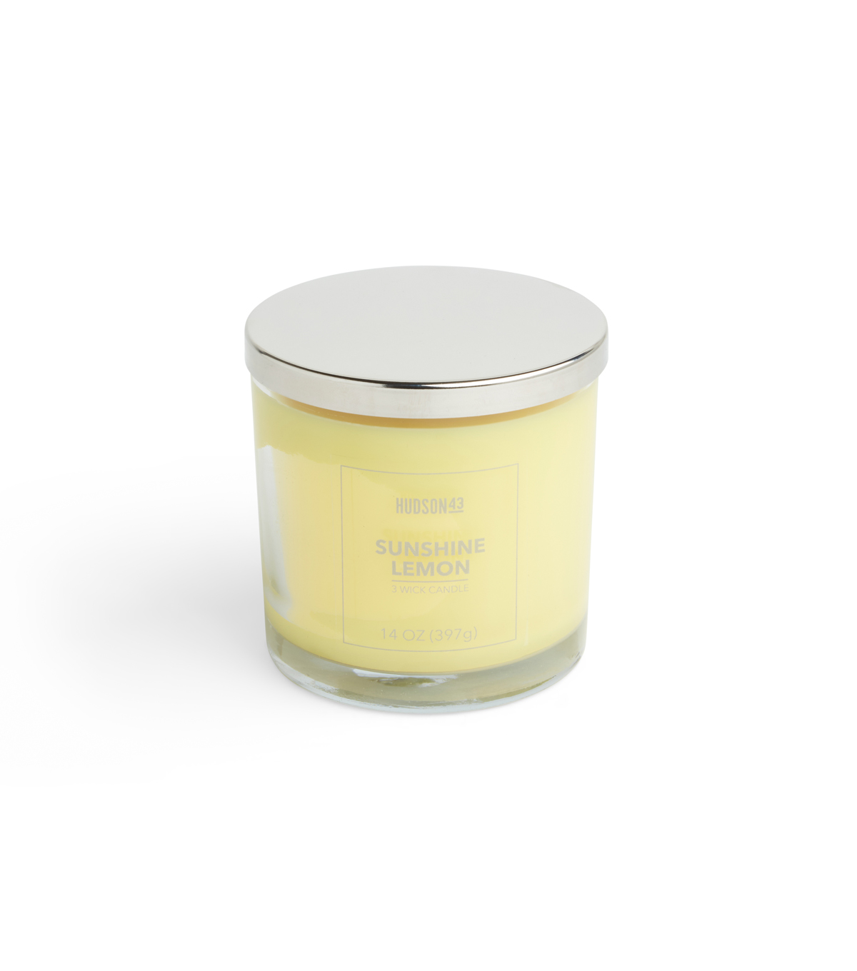 Hudson 43 Candle & Light 14 oz. Sunshine Lemon Scented Jar Candle