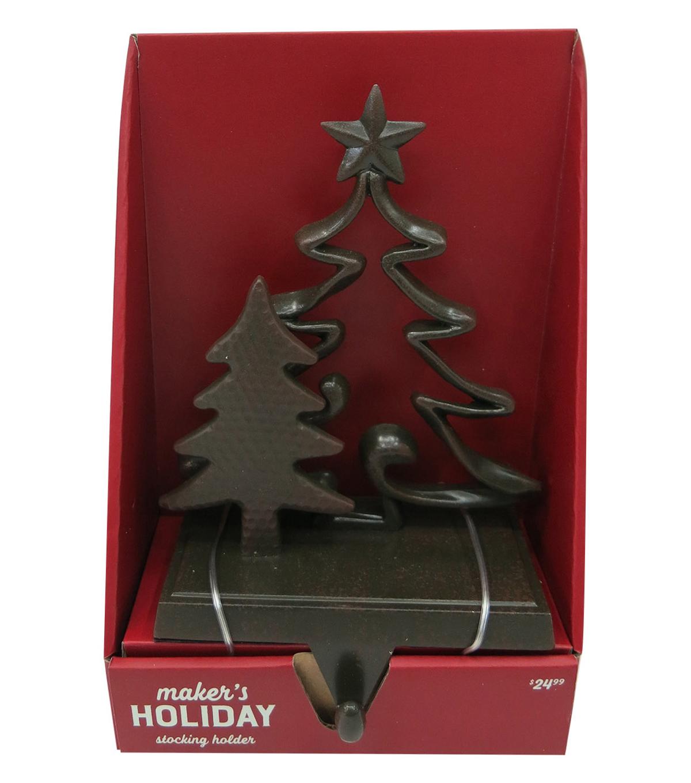 Christmas Tree Stocking Holder.Maker S Holiday Christmas Tree Single Stocking Holder Bronze