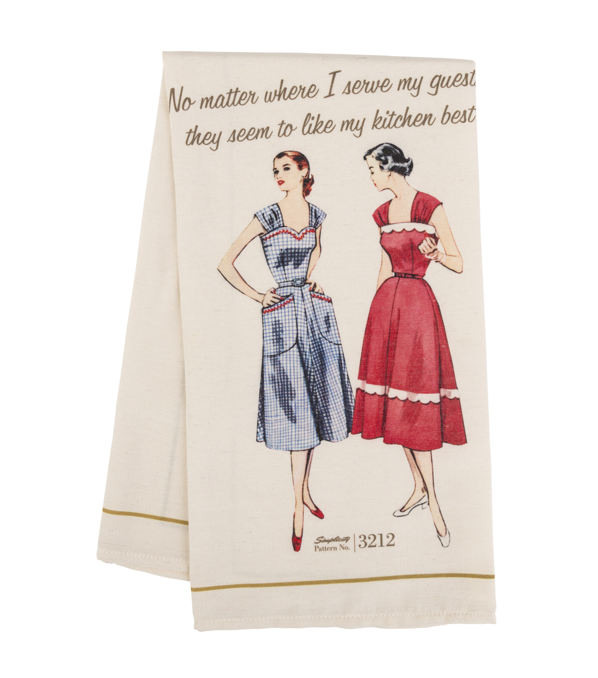Simplicity Vintage 21.75\u0027\u0027x28\u0027\u0027 Tea Towel-Like My Kitchen Best