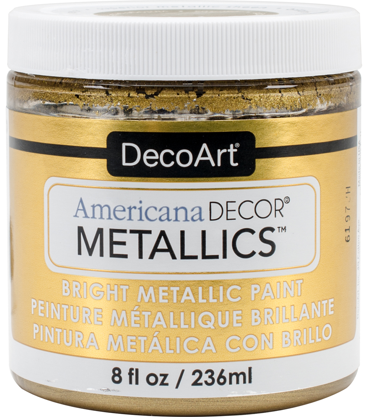 DecoArt Americana Decor Metallics 8oz Paint, Champagne Gold