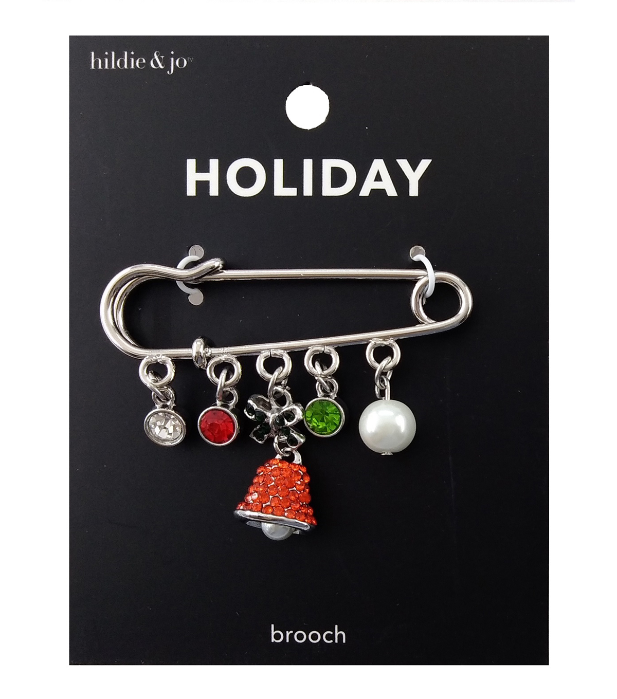 hildie & jo Holiday Safety Pin Charm-Dangle Charms