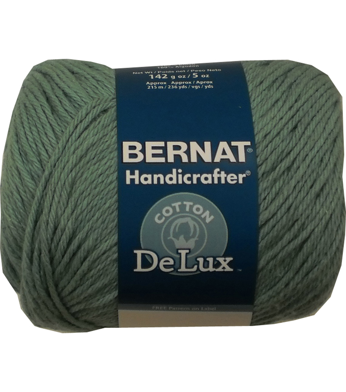 Bernat Handicrafter DeLux Cotton Yarn, Seaspray