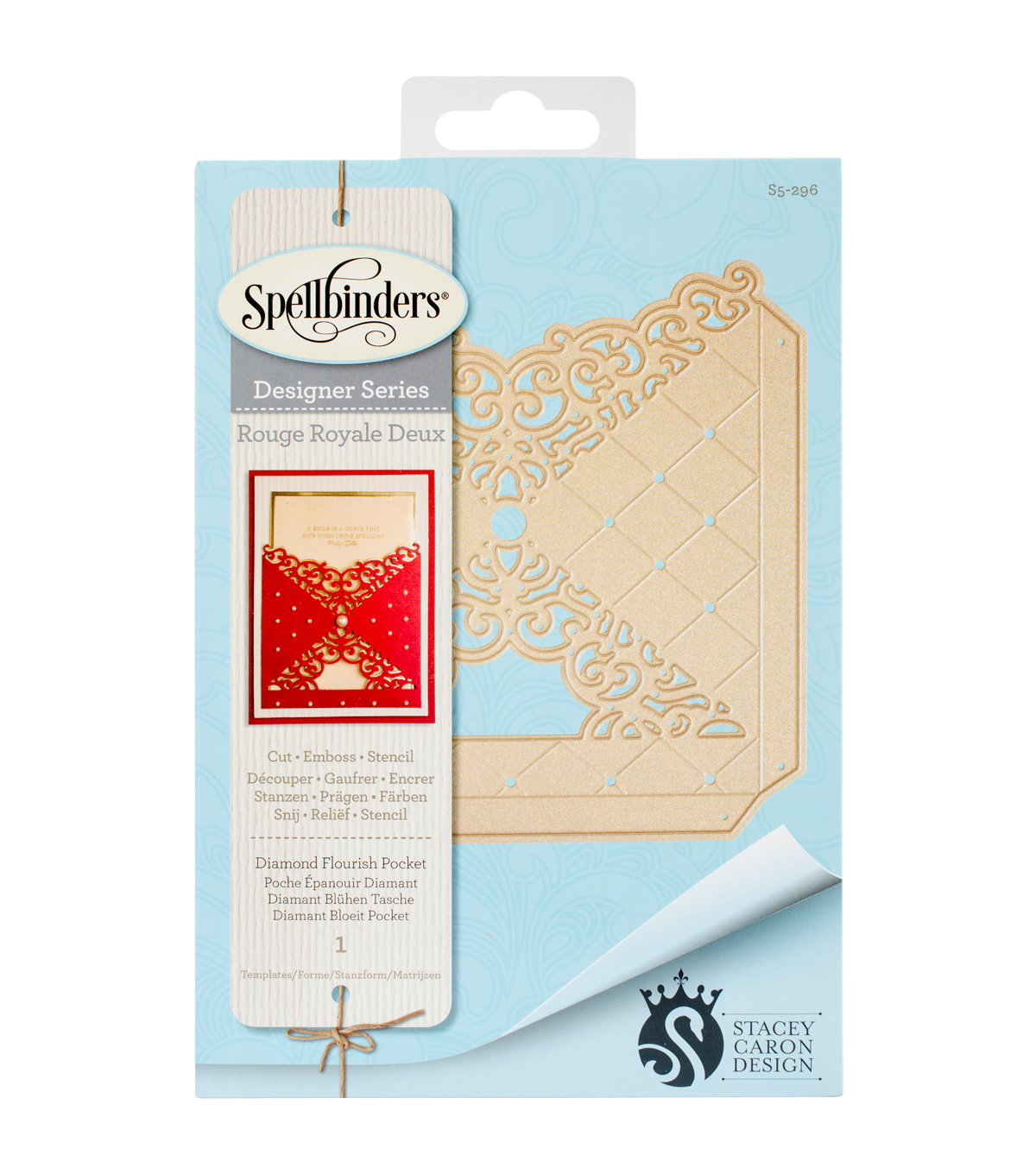 Spellbinders Shapeabilities Die-Diamond Flourish Pocket