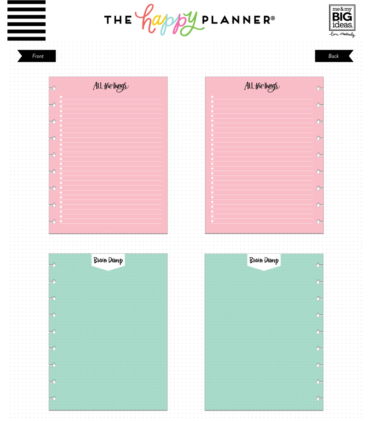 The Happy Planner Colored Fill Paper