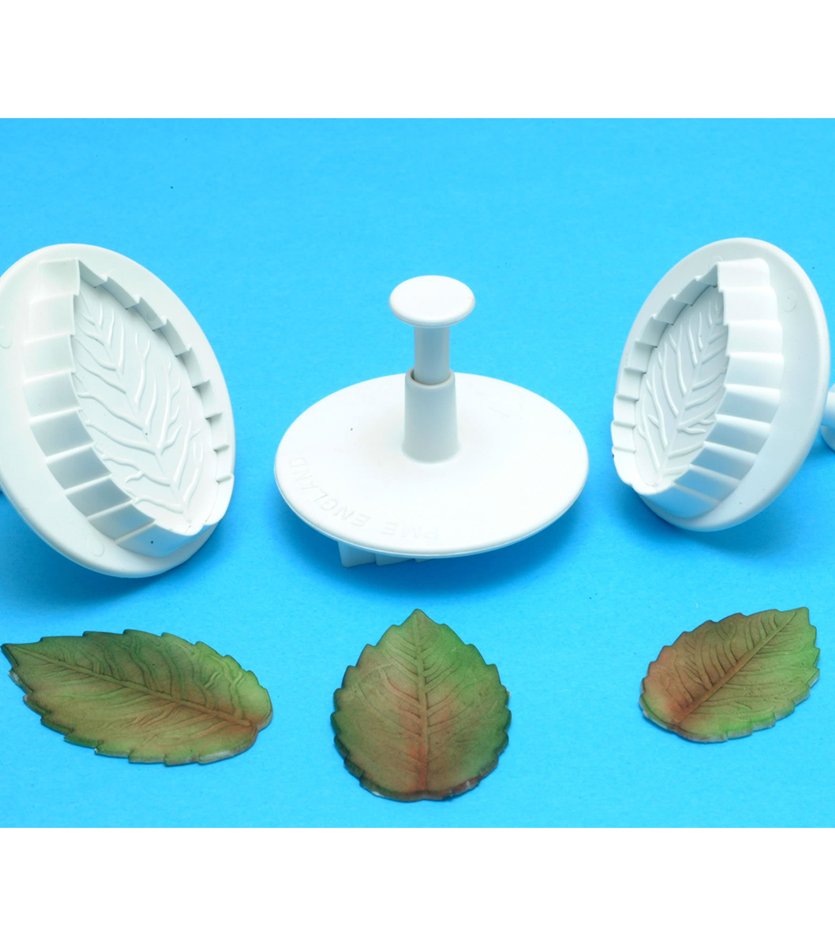 PME 3 Pack Plunger Cutters-Veined Rose Leaf