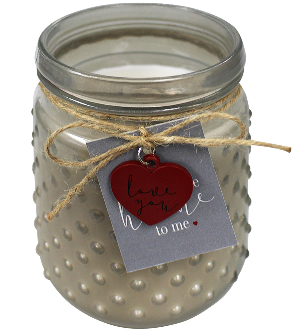 Valentine\u0027s Day Decor 4\u0027\u0027x5\u0027\u0027 17 oz. Glass Jar Candle-Gray