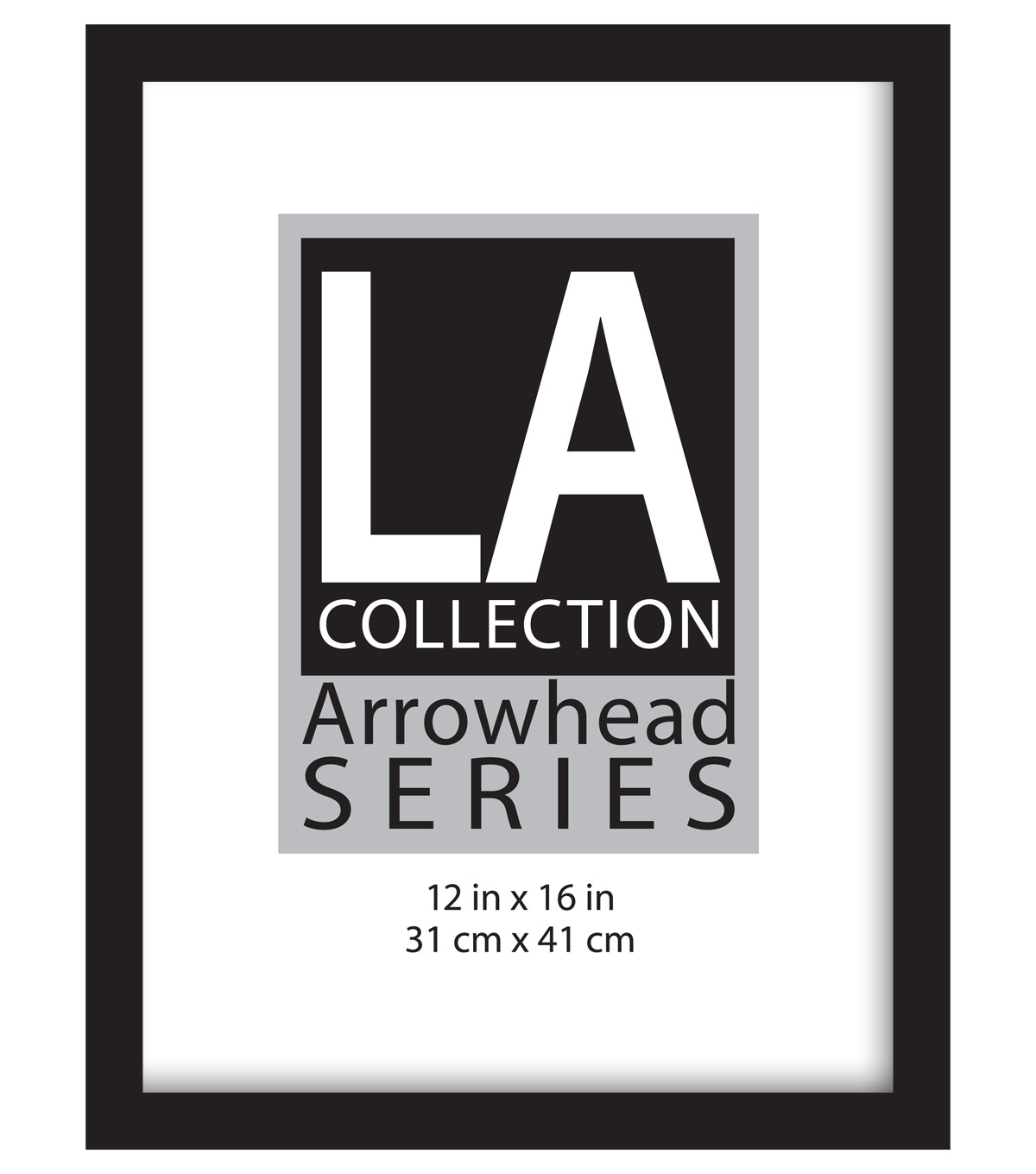 LA Collection Arrowhead Series Plastic Flat Top Frame 12\u0027\u0027x16\u0027\u0027-Black