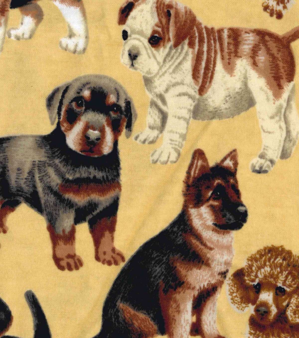 Snuggle Flannel Fabric -Photo Real Dog