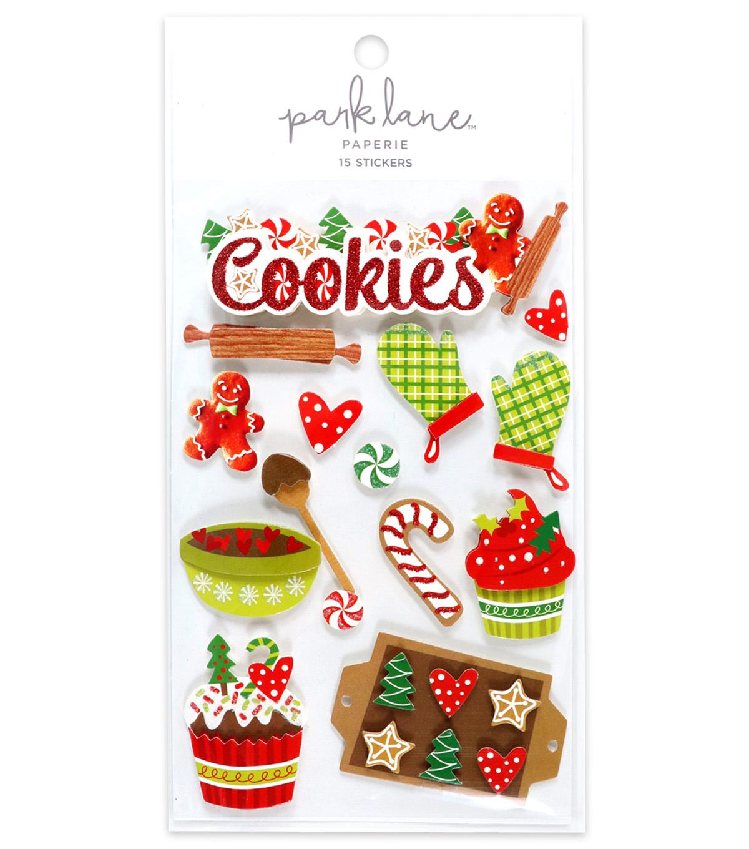 Park Lane 15 Pk 3d Stickers Christmas Cookie
