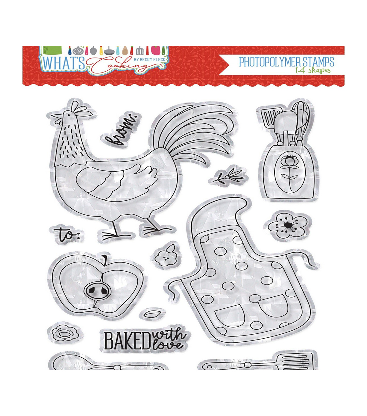 Photo Play Paper What\u0027s Cooking 14 pk Photopolymer Stamps