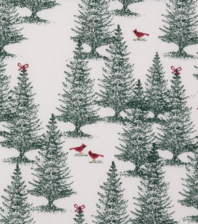 Christmas Cotton Fabric-Cardinal Forest