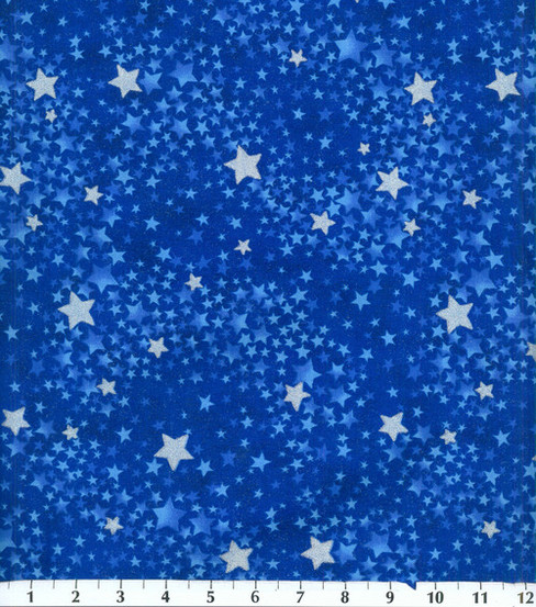 Keepsake Calico Cotton Fabric 44\u0027\u0027-Navy Tonal Swirled Stars