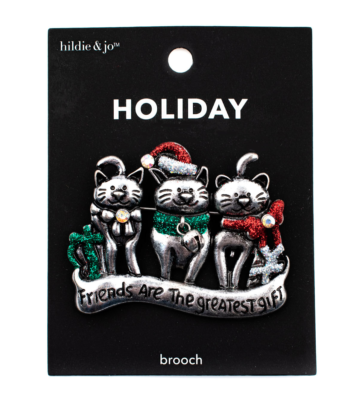 hildie & jo Holiday Pin-Holiday Cats Tis The Season