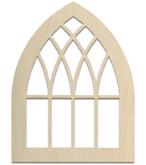Baltic Birch Unfinished Arch 16\u0027\u0027x21\u0027\u0027