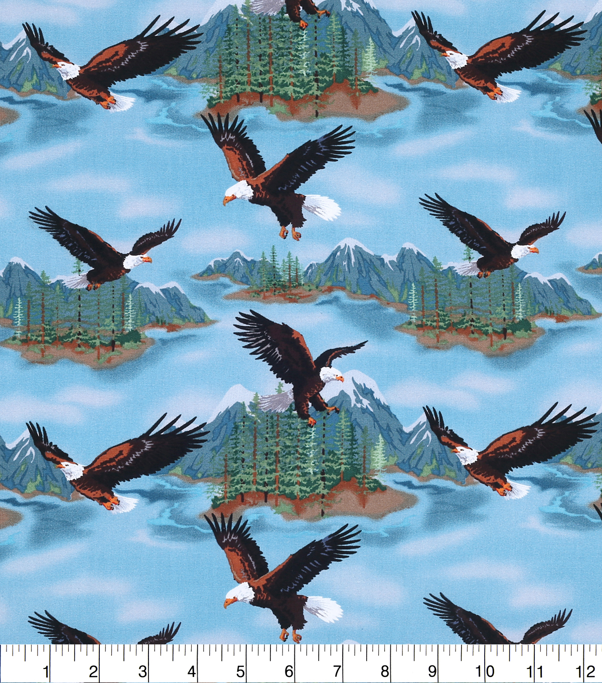Novelty Cotton Fabric -Eagle