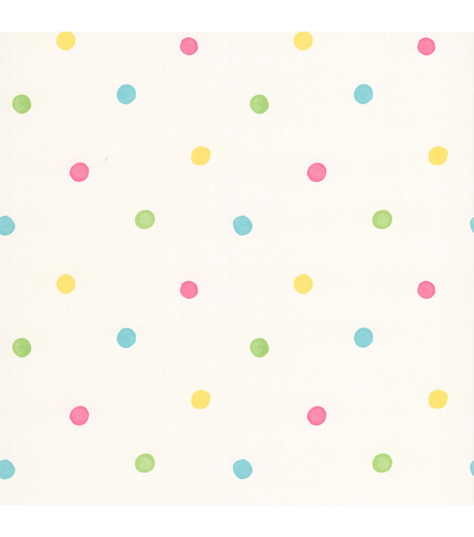 Sprinkles White Polka Dots Wallpaper Sample