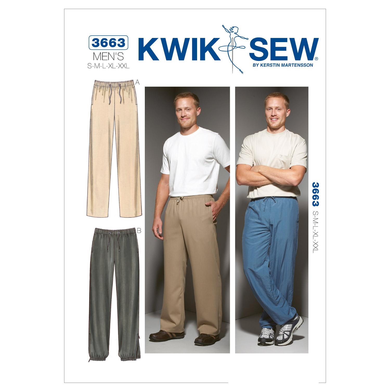 Basic pattern of pants for men