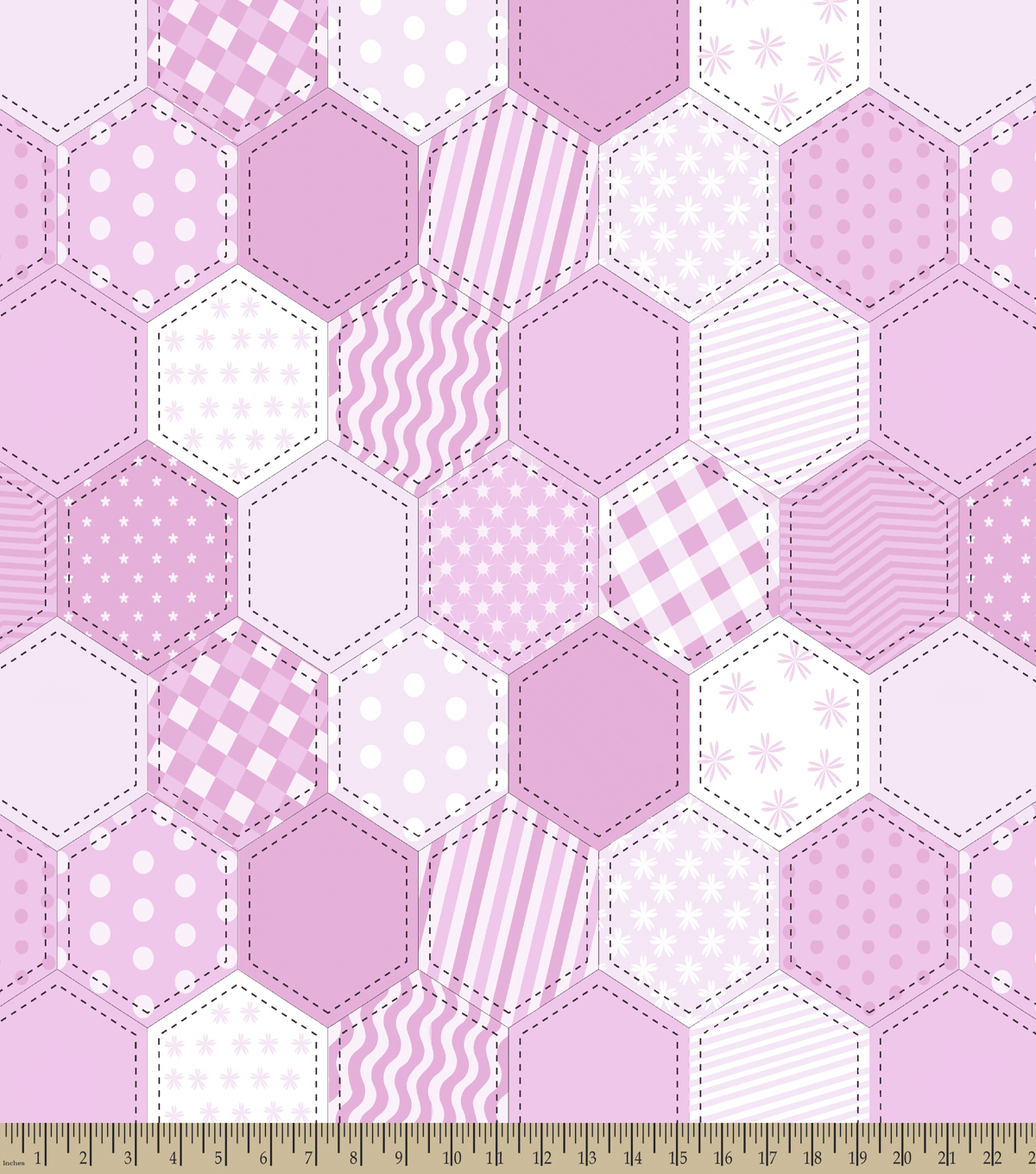 Girl Quilt Pattern Print Fabric