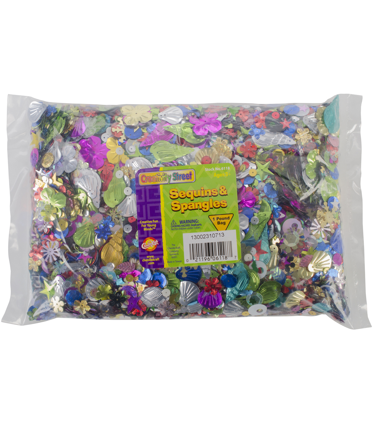 Sequins & Spangles 1lb Classroom Pack-Assorted Shapes & Colors