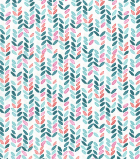 Premium Cotton Print Fabric 43\u0027\u0027-Teal Striped Geos on Pearl