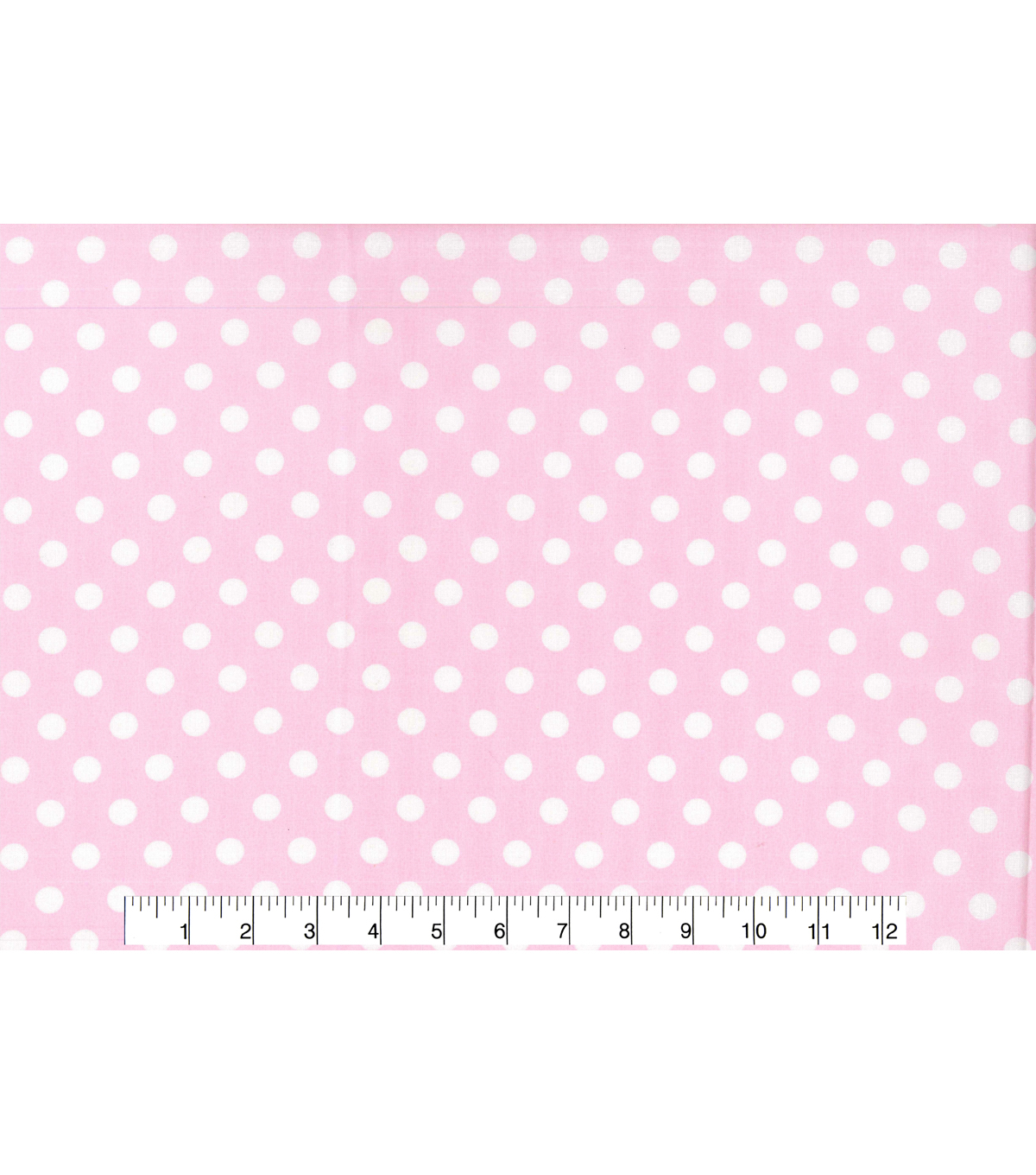 Nursery Cotton Fabric 43\u0022-White Dot On Pink