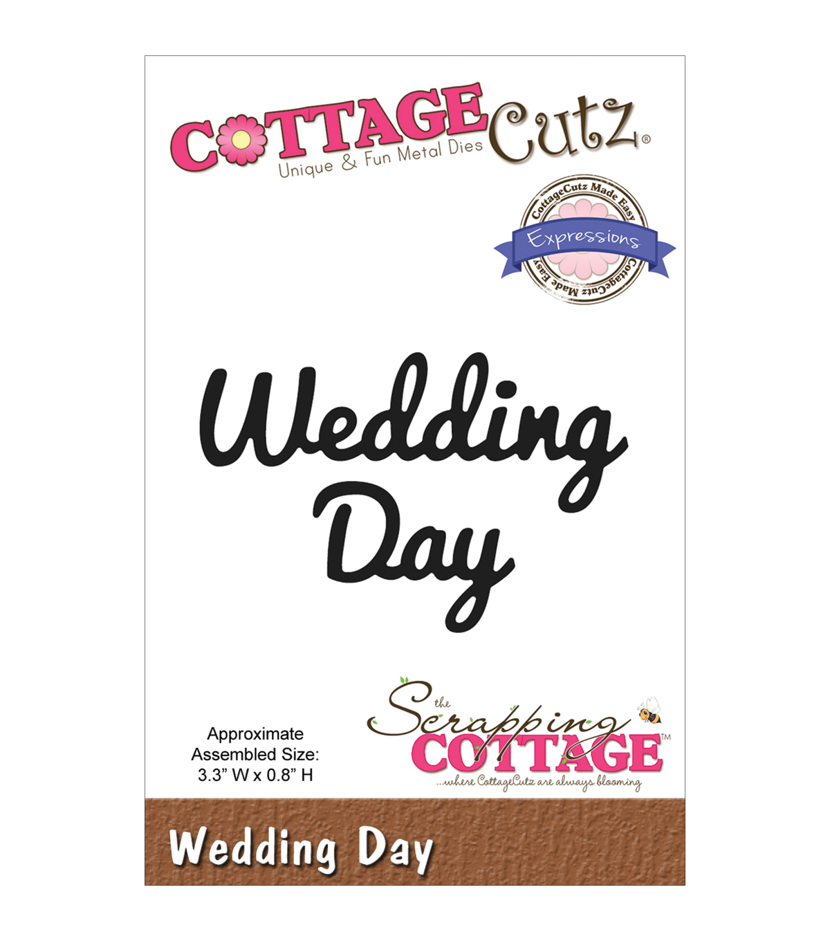 CottageCutz Expressions Wedding Day Die
