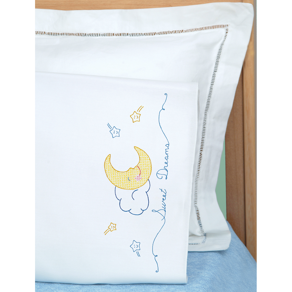 Children\u0027s Stamped Pillowcase With White Perle Edge 1/Pkg-Sweet Dreams