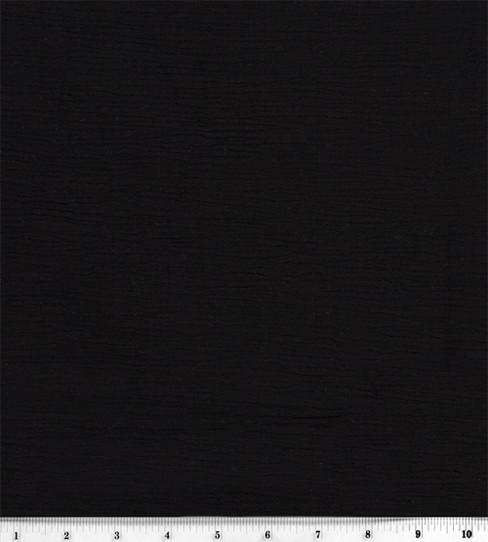 Sew Classic Specialty Cotton Gauze Fabric -Solid, Black