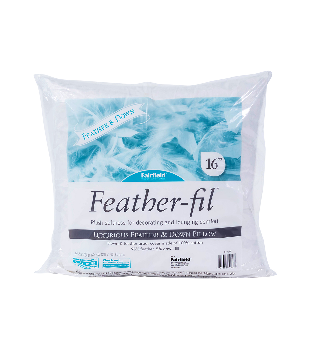 Feather-Fil 6 pk 16\u0027\u0027x16\u0027\u0027 Pillows