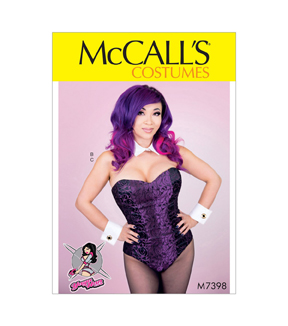 McCall\u0027s Pattern M7398 Misses\u0027 Corseted Bodysuit, Collar, Cuffs & Tail