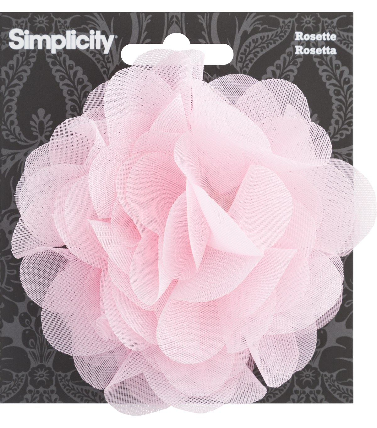 Rosette Flower Accessory Pink