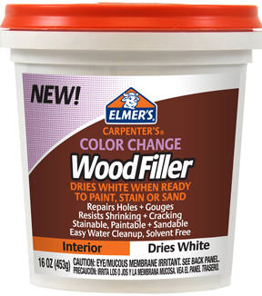 Elmer\u0027s Carpenter\u0027s 16 oz. Color Change Wood Filler-White