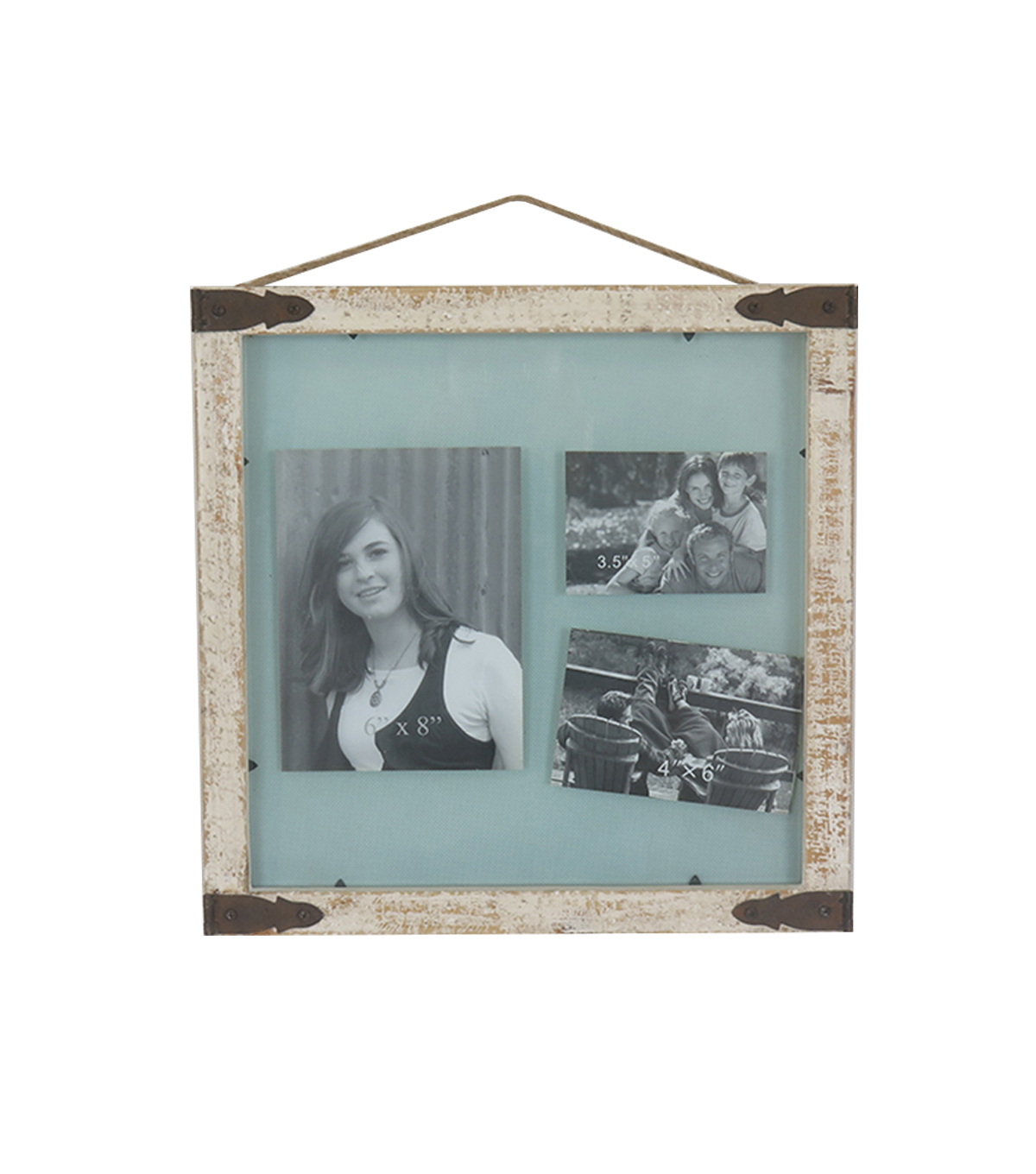 Save the Date 16\u0027\u0027x16\u0027\u0027 DIY Glass Wall Photo Frame-Rustic