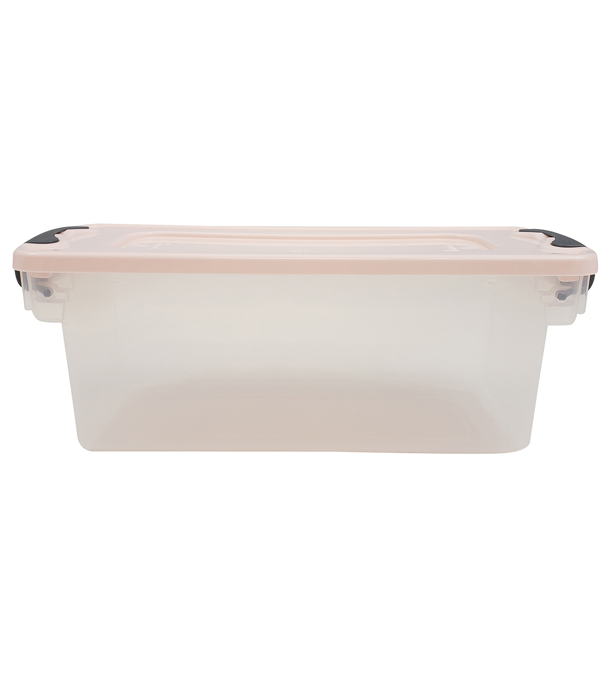 Homz 7 Quart Shoe Storage Container with Clear Base & Pearl Lid