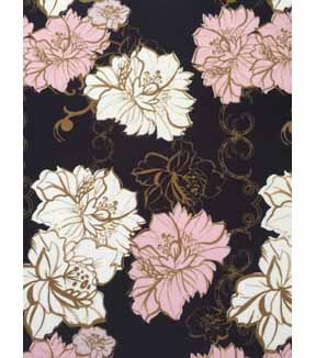 Modern Apparel Knit Fabric 57\u0027\u0027-Pink & White Modern Floral on Navy