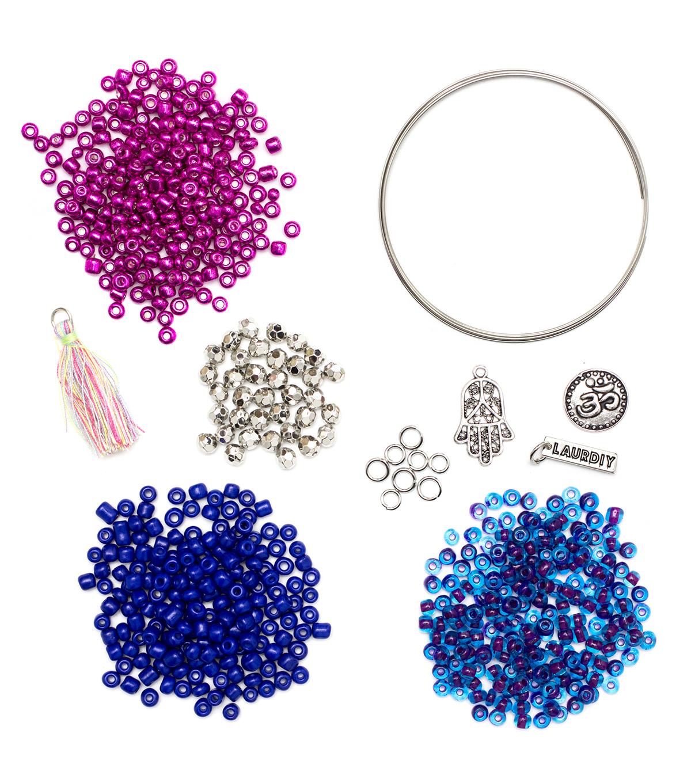 LaurDIY Blue Purple Wire Bracelet Mini DIY Kit   JOANN