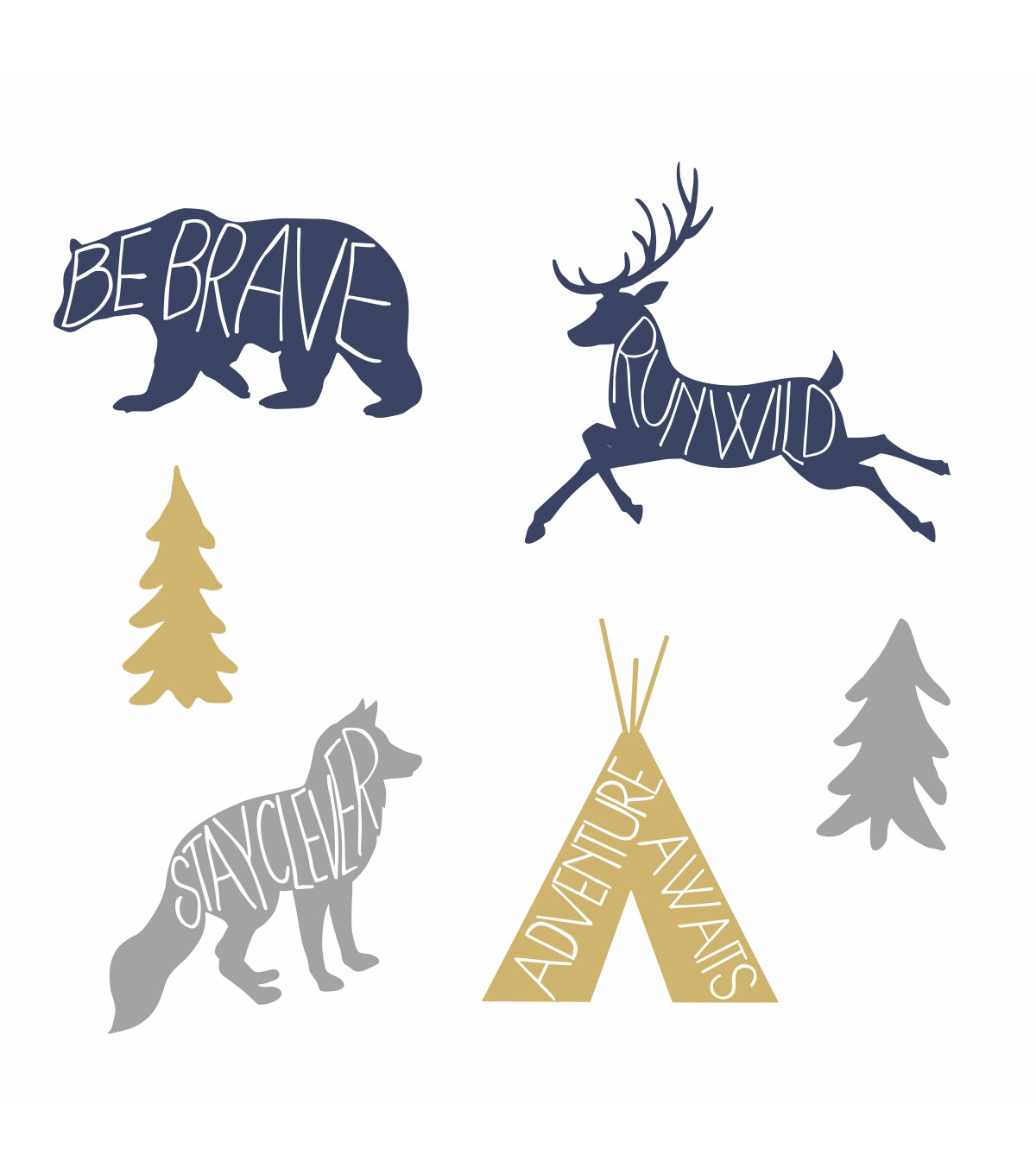 York Wallcoverings Wall Decals-Advenure Awaits Animal Giant