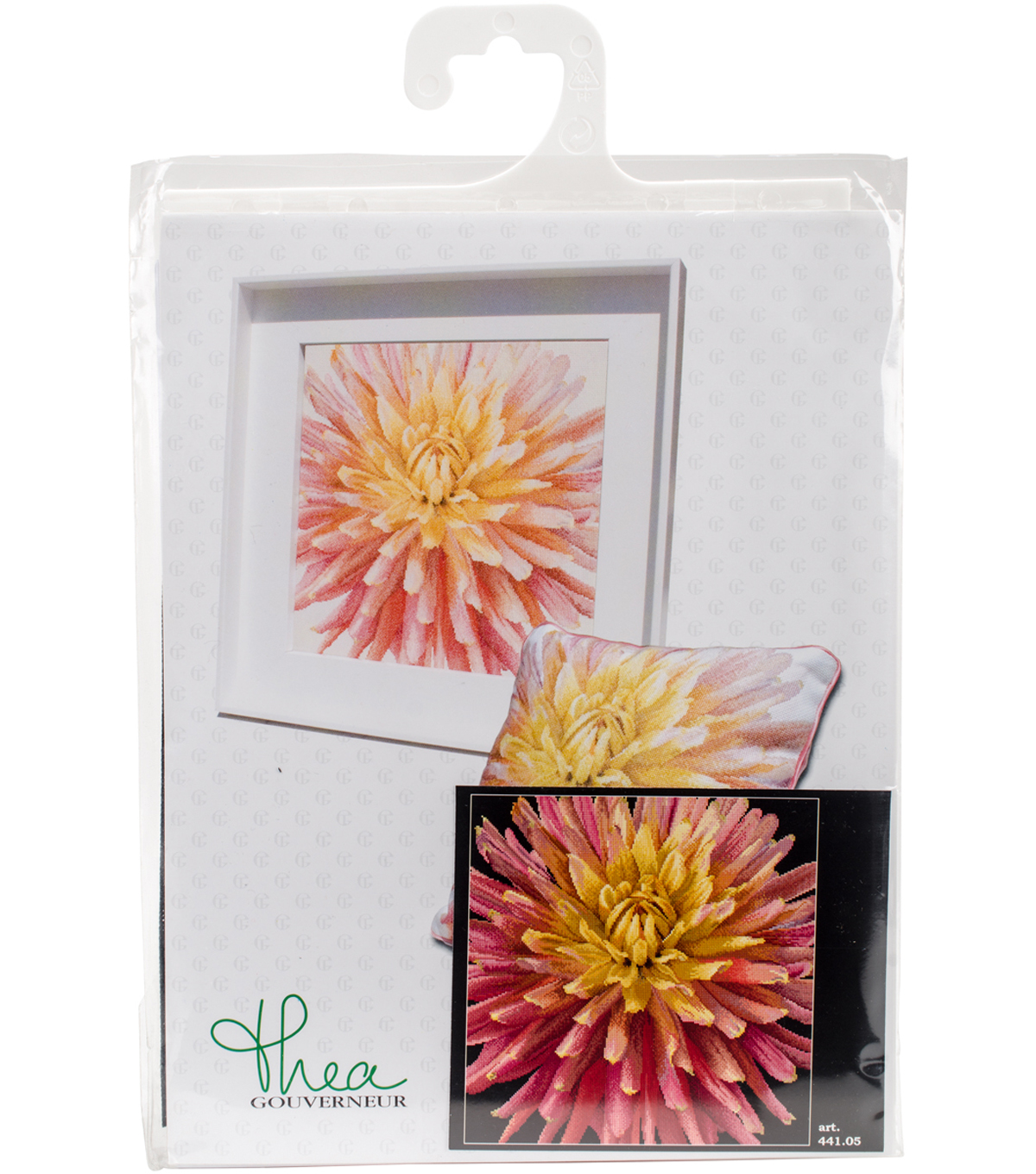 Dahlia On Aida Counted Cross Stitch Kit 18 Count