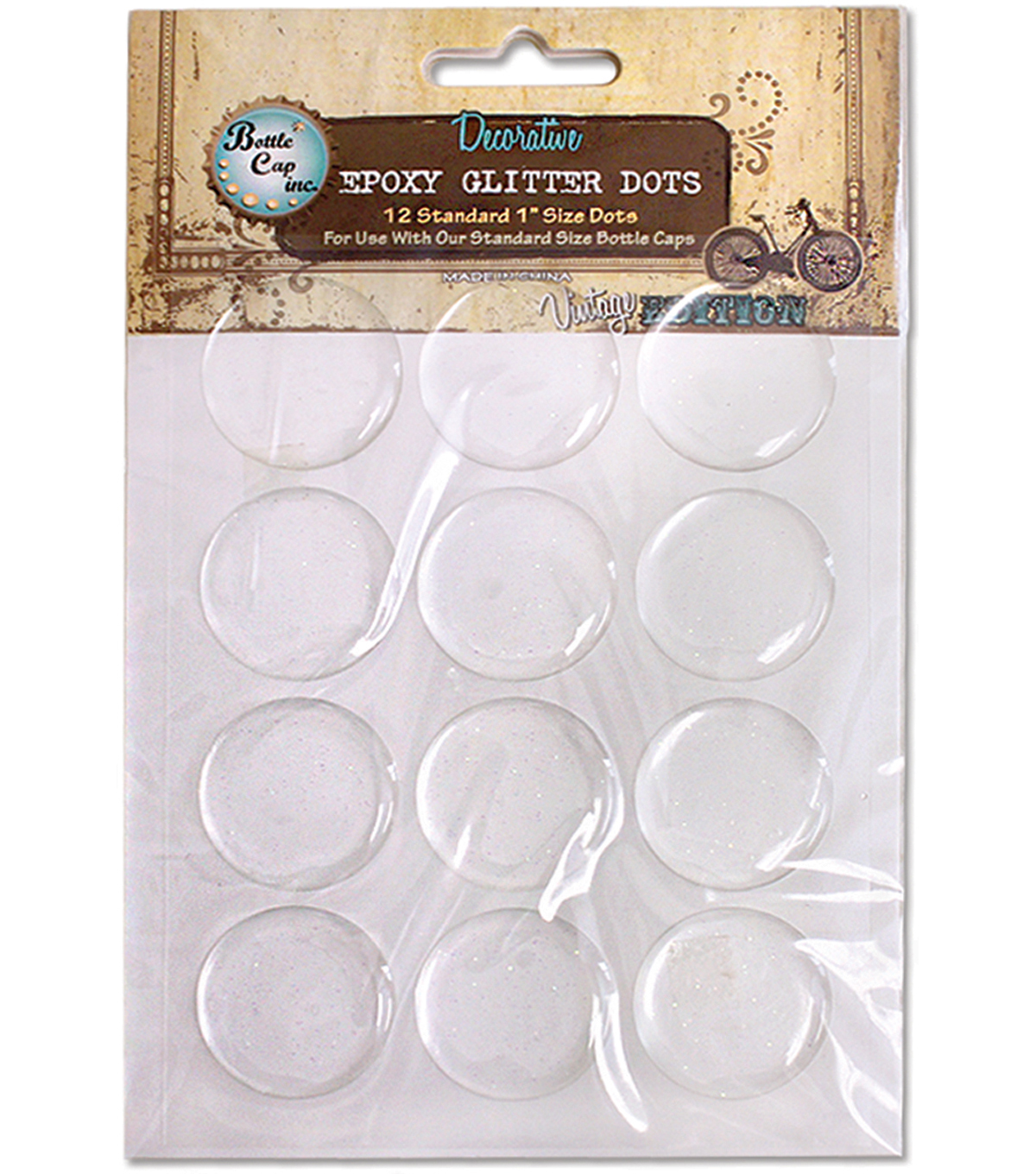 Vintage Collection Epoxy Dots 1\u0022 12/Pkg-Glitter