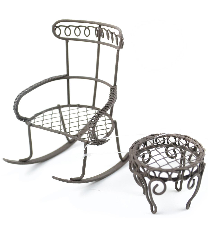 Midwest Design Mini Garden Rocking Chair Round Table