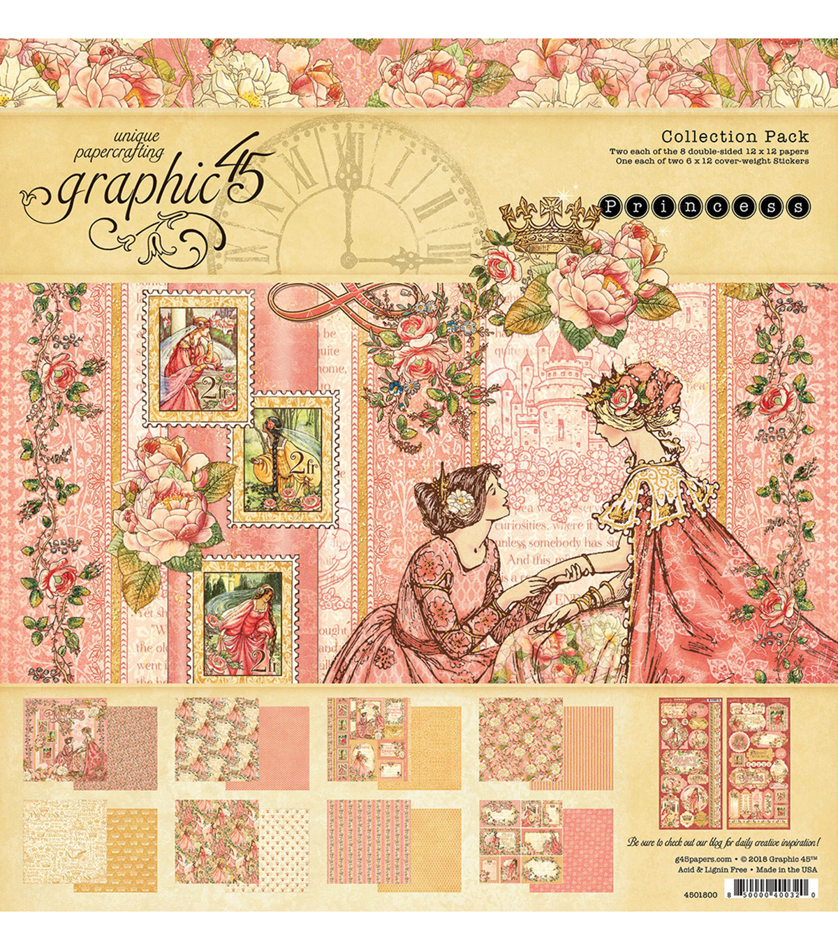 Graphic 45 Collection Pack 12\u0022X12\u0022-Princess