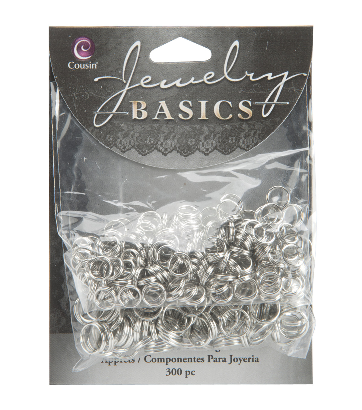 Jewelry Basics 6mm/8mm Split Rings 300/Pk-Silver