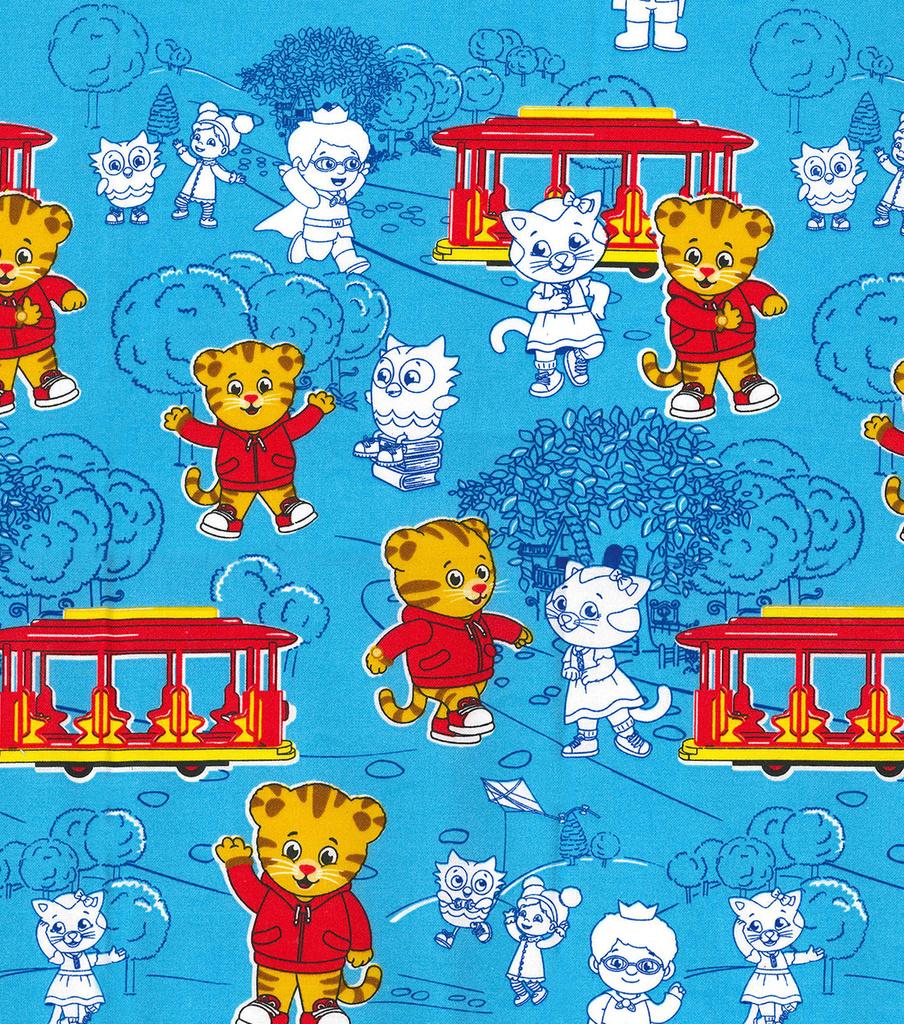e4ec7af9dc Disney Junior Daniel Tiger Cotton Fabric -Neighborhood on Blue