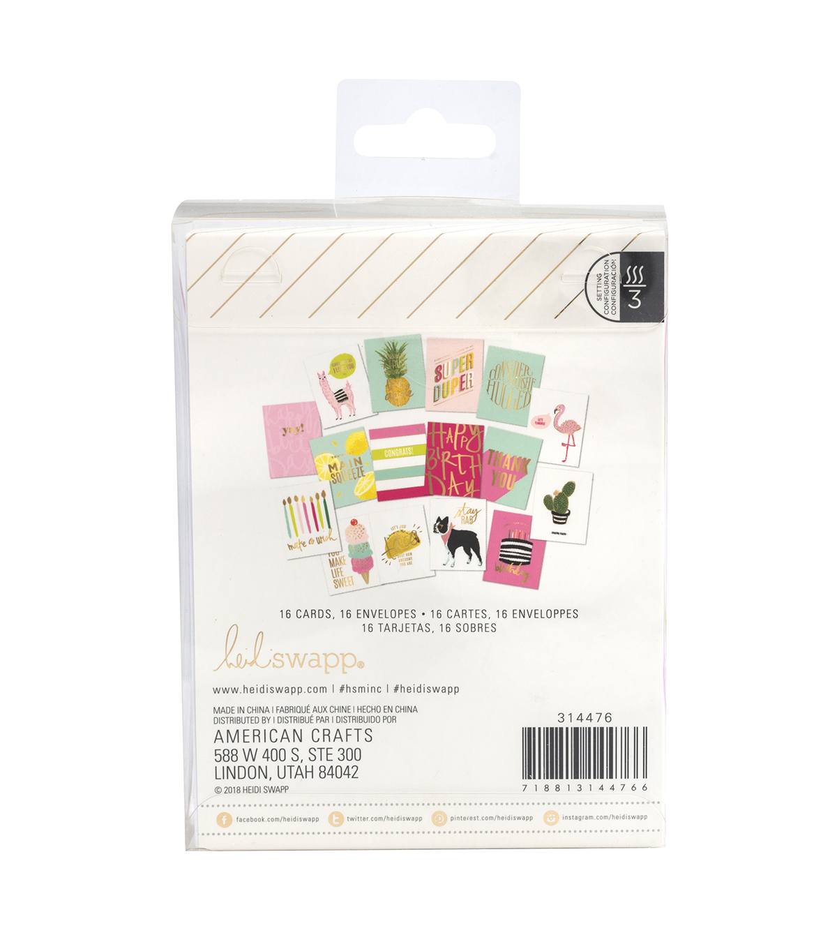 Heidi Swapp Minc Reactive Card Kit 32/Pkg-All Occasion