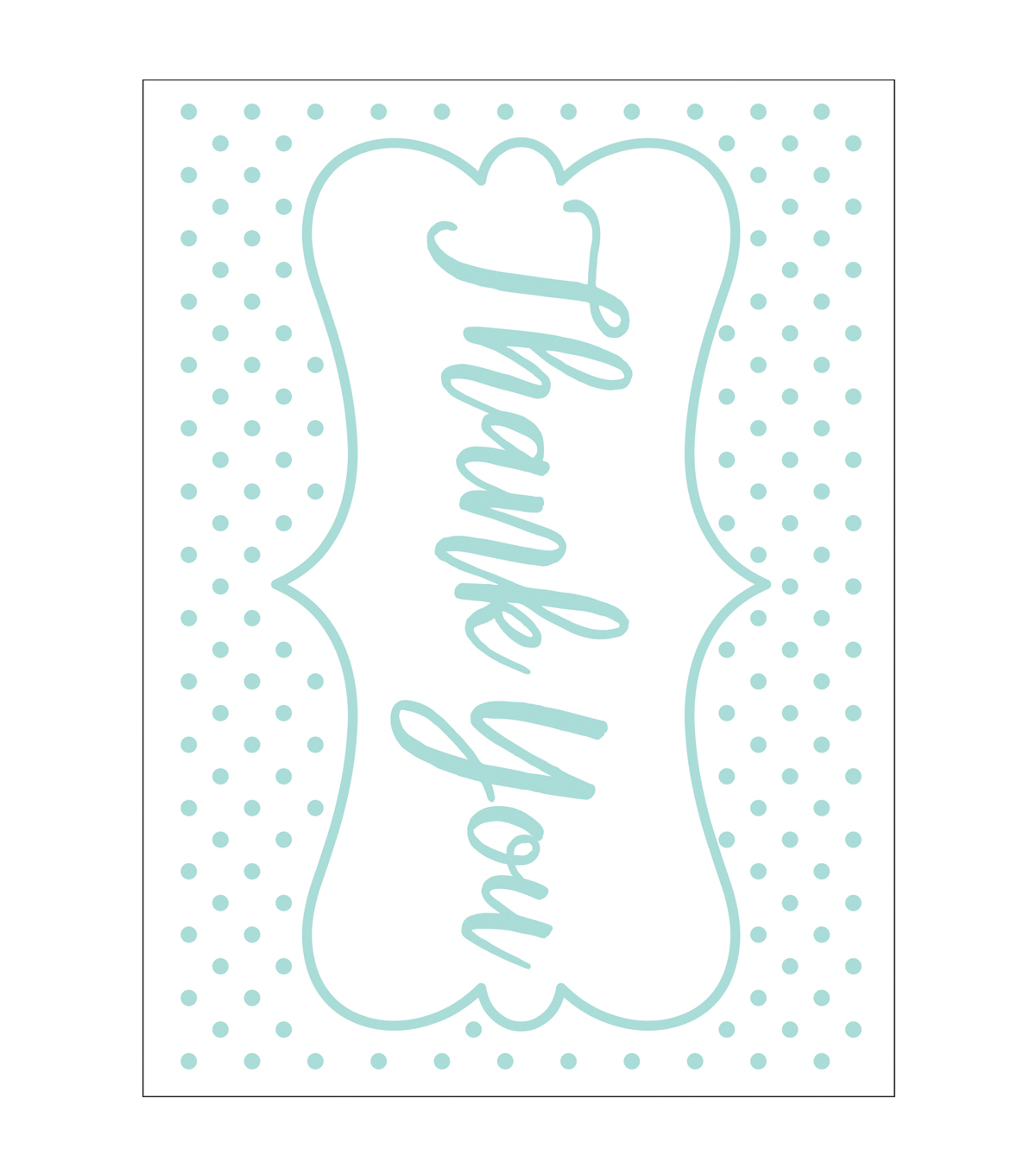 Park Lane A2 Embossing Folder-Thank You & Dots